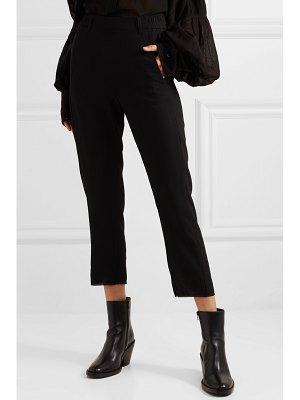 Ann Demeulemeester cropped twill tapered pants