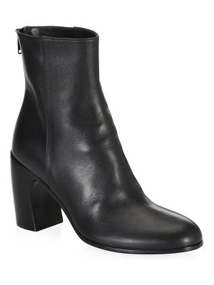 Ann Demeulemeester curve heel leather ankle booties