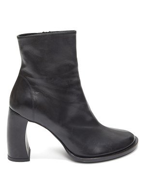 Ann Demeulemeester curved-heel leather ankle boots