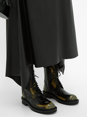 Ann Demeulemeester distressed leather ankle boots