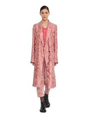 Ann Demeulemeester Double breasted satin jacquard coat