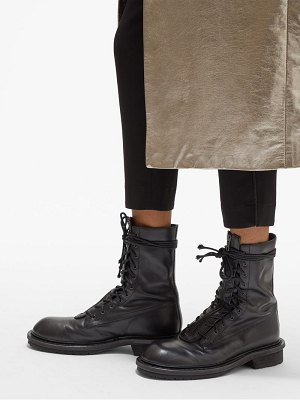 Ann Demeulemeester double lace up leather boots