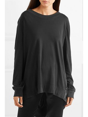 Ann Demeulemeester draped cotton and silk sweater