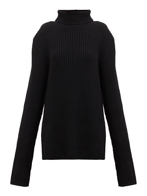 Ann Demeulemeester extra long-sleeve roll-neck ribbed-wool sweater