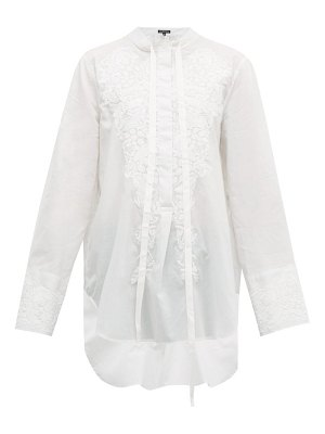 Ann Demeulemeester floral embroidered cotton shirt