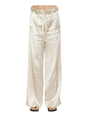 Ann Demeulemeester Fluid satin wide leg pants