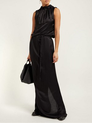 Ann Demeulemeester gathered tie waist maxi dress