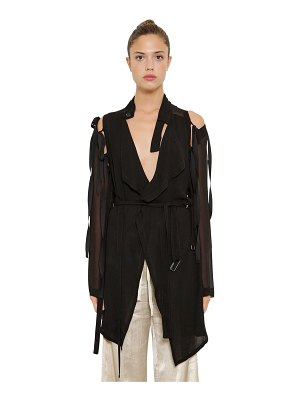 Ann Demeulemeester Georgette dress w/ detachable sleeves