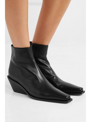 Ann Demeulemeester glossed-leather ankle boots