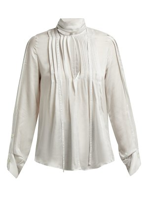 Ann Demeulemeester High-neck pleated-front blouse