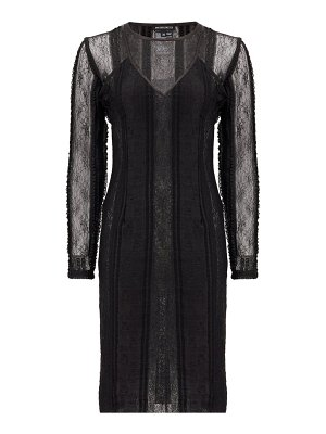 Ann Demeulemeester inside-out layered lace midi dress