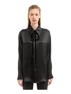 Ann Demeulemeester June silk satin shirt