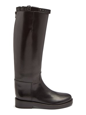 Ann Demeulemeester Knee High Leather Boots