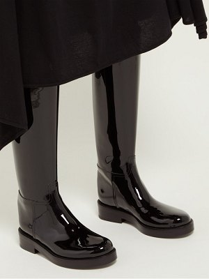 Ann Demeulemeester knee high patent leather boots