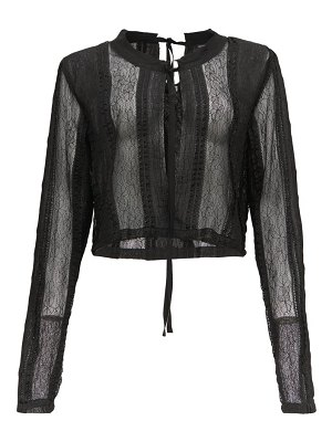 Ann Demeulemeester lace and chiffon-panelled blouse
