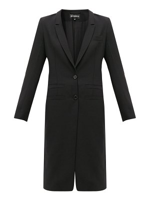 Ann Demeulemeester lace-up cuff wool-twill coat
