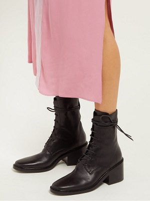Ann Demeulemeester lace up leather ankle boots
