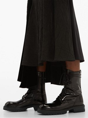 Ann Demeulemeester lace up leather boots