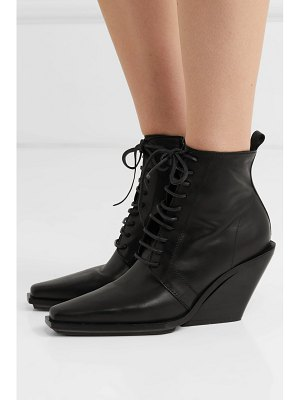Ann Demeulemeester lace-up leather wedge ankle boots