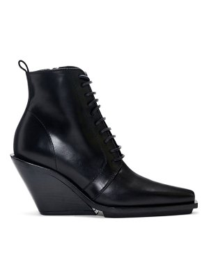 Ann Demeulemeester lace-up wedge ankle boots