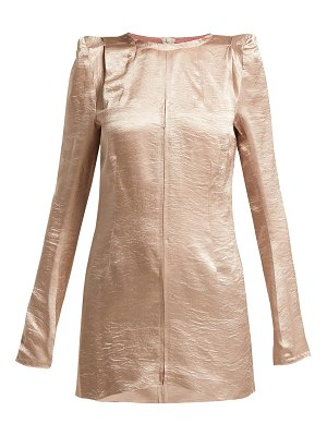 Ann Demeulemeester Lambeth Satin Tunic Top