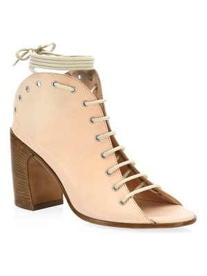 Ann Demeulemeester leather lace-up open toe ankle boots