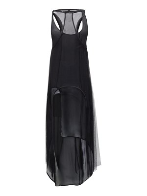Ann Demeulemeester meryl layered crepe and mesh dress