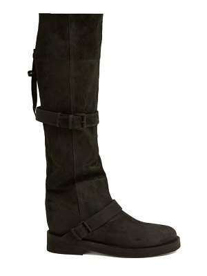 Ann Demeulemeester Nubuck Slouch Leather Boots