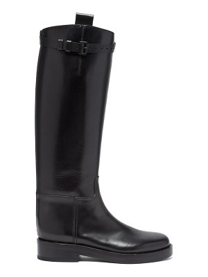 Ann Demeulemeester buckled-strap knee-high leather boots