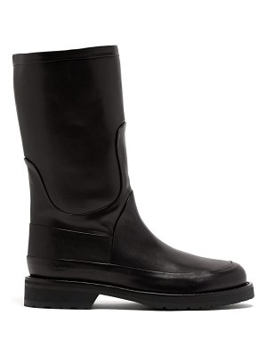 Ann Demeulemeester panelled leather boots