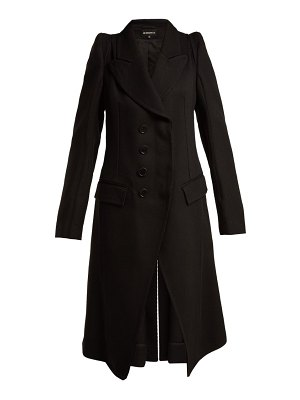 Ann Demeulemeester Priestley Exaggerated Shoulder Wool Coat