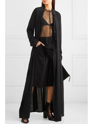 Ann Demeulemeester ruched crepe de chine maxi dress