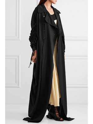 Ann Demeulemeester ruched double-breasted crepe coat