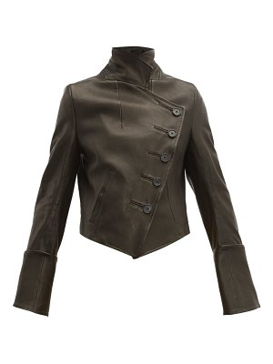 Ann Demeulemeester sabine double breasted leather jacket