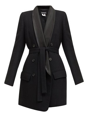 Ann Demeulemeester double-breasted satin-lapel belted wool coat