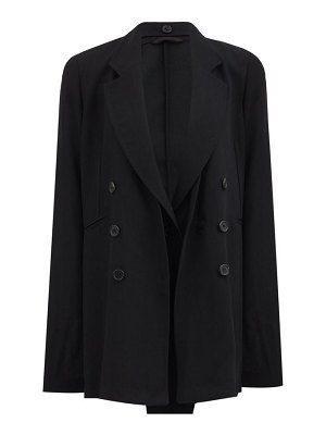Ann Demeulemeester single-breasted wool-crepe jacket