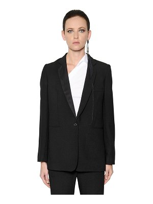 Ann Demeulemeester Single breasted wool crepe jacket