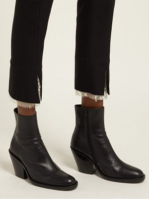 Ann Demeulemeester slanted heel leather ankle boots