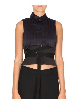 Ann Demeulemeester Sleeveless Striped Top