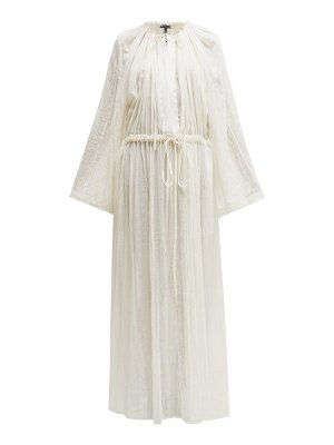 Ann Demeulemeester tiriel gathered cotton maxi dress