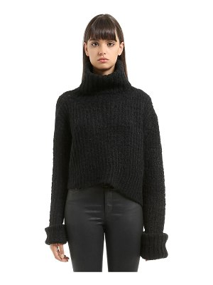 Ann Demeulemeester Trapper mohair blend knit sweater