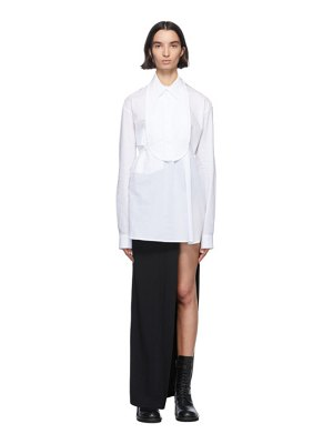 Ann Demeulemeester white cotton bavet shirt