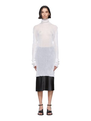 Ann Demeulemeester white knit turtleneck