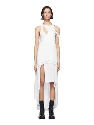 Ann Demeulemeester white rivale multi dress