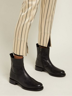 Ann Demeulemeester Zipped Leather Ankle Boots
