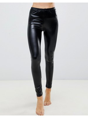 Ann Summers wetlook leggings in black