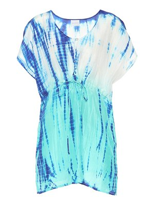 Anna Kosturova Tie-dye silk cover-up