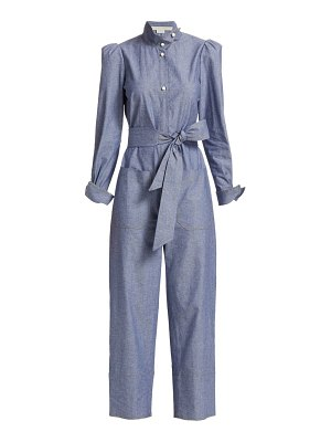 Anna Mason star chambray belted jumpsuit