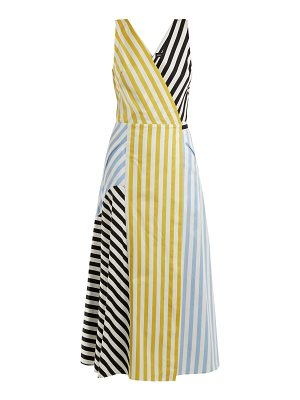 Anna October Contrast-striped cotton dress
