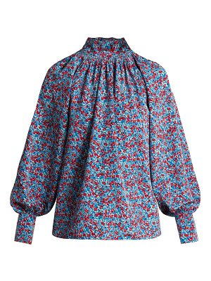 Anna October Floral-print cotton top